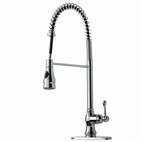 Modern High Arch Stainless Steel Plumbing Spiral Single Handle ...