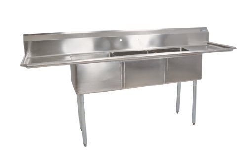 John Boos E Series Stainless Steel Sink Multi Bowl 3